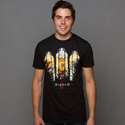 J!NX Diablo III Stained Glass Premium Tee 教堂圣窗天使T恤