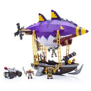 Mega Bloks魔兽世界积木玩具 地精飞艇