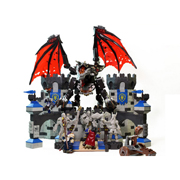 Mega Bloks魔兽世界积木玩具 死亡之翼突袭暴风城