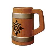 炉石传说 logo 陶瓷水杯 酒桶杯