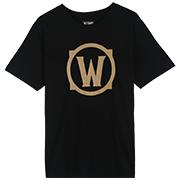 魔兽世界 logo图标 烫金T恤