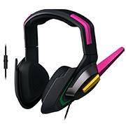 《守望先锋》雷蛇(Razer)D.Va同款 游戏耳麦 电脑手机通用耳麦
