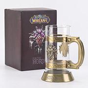 预售 魔兽世界 部落金属徽记 复古啤酒杯