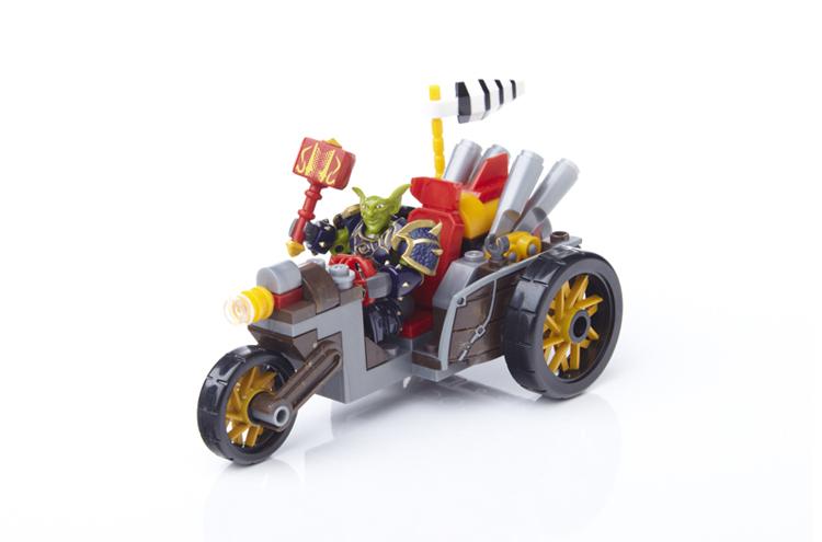 mega bloks魔兽世界积木玩具 地精机车军队