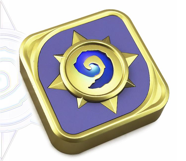 炉石传说logo设计,按下按钮或充电时