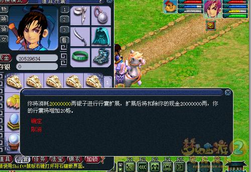 玩家曝光 梦幻将推出扩充行囊服务(仅消耗梦幻币)